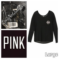 VIctoria's SECRET PINK SLOUCHY NECK TEE