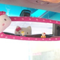Sanrio Hello Kitty New Style Car Rear View Mirror Cover Hot Pink