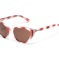 Kids's white and red stripes acetate sunglasses with cat-eye frame by Dolce & Gabbana dg4202