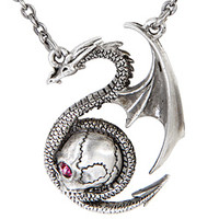 Dragon With Skull Necklace