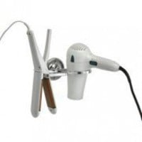FLAT iron and HAIR dryer HOLDER in POLISHED chrome | eSaleaDay | Products you love
