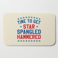 Time to Get Star Spangled Hammered - Fourth of July / 4th of July Bath Mat by CreativeAngel