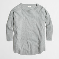Factory drapey cotton sweater