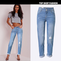 2016 Trending Fashion Loose Jeans Trousers Pants _ 1154