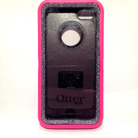 OtterBox Defender Series Case iPhone 5c Glitter Cute Sparkly Bling Defender Series Custom Case Peony pink/ graphite