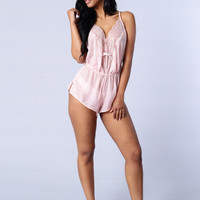 Sweet Dreams Lingerie Romper - Pink