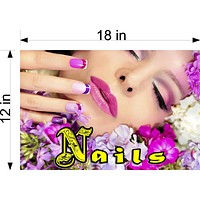 Nails 18 Wallpaper Poster Decal with Adhesive Backing Wall Sticker Decor Indoors Interior Sign Horizontal