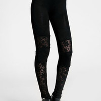 Dark Heart Crochet Leggings - $42.00 : ThreadSence, Women's Indie & Bohemian Clothing, Dresses, & Accessories