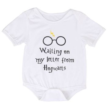 Newborn Baby Boy Girl Harry Potter Print  Bodysuit Jumpsuit Clothes Outfit Infant Kids Boys Girls Cotton Bodysuits Clothing