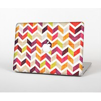 The Colorful Segmented Scratched ZigZag Skin Set for the Apple MacBook Air 13""