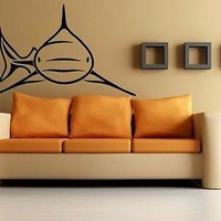 Wall Stickers Vinyl Decal Big Scary Shark Ocean Marine Killer Fish Unique Gift EM210