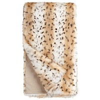Snow Leopard *Limited Edition* Faux Fur Throw Blanket by Fabulous Furs