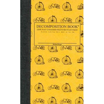 Vintage Bicycles Pocket-size Decomposition Book: College-ruled Composition Notebook With 100% Post-consumer-waste Recycled Pages