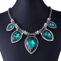 Emerald Green Cocktail Necklace