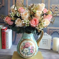 Beautiful Charming Delightful Palace Earl Rose Multi Color Artificial Flowers Wedding Home
