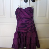 Betsy Johnson Purple Homecoming Dress