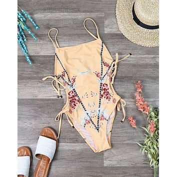 Final Sale - MINKPINK Swim - Sundance Floral One-Piece in Yellow Multi