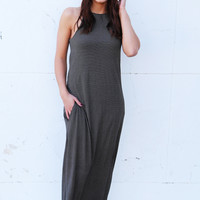 Take You There Striped Maxi