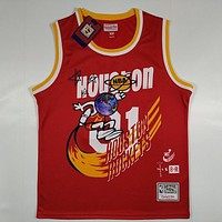Travis Scott x BR Bleacher Report x Mitchell & Ness Rockets #1 Jack Jersey Red