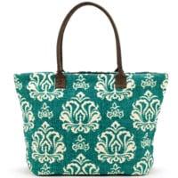 Indian Dhurrie Tote Bag Turquoise