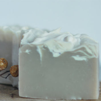 SALE 4.50 Clary Sage soap with Lavender and Lemongrass - vegan natural - Into the Mystic