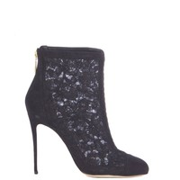 DOLCE & GABBANA Keira suede & lace ankle boots