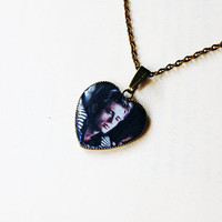 James Dean - Handmade Vintage Cameo Pendant Necklace