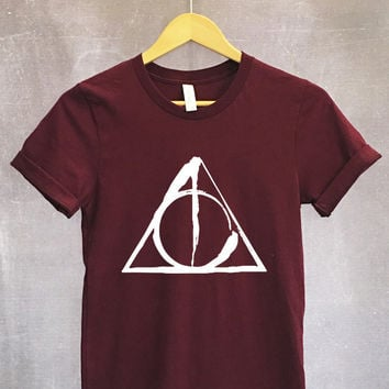 Deathly Hallows Symbol Shirt in Maroon