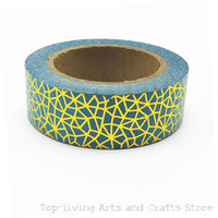 1pc Sell Green Nets Foil Washi Tape Set Japanese Stationery Scrapbooking Decorative Tapes Adhesive Tape Kawai Adesiva Decorativa