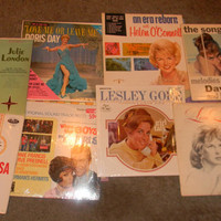 Rockabilly & Mad Men Songs/ 13 LPS/All The Rage Music/Songs of the 1950s 1960s/Rare collectable Vinyl Record Lot/Fly Me to The Moon/MINT