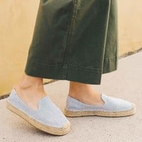 Canvas Platform Smoking Slipper
