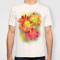 Pretty holiday orange daisy flower. Floral nature garden photography. T-shirt by NatureMatters