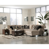 Signature Design by Ashley Katisha Platinum Loveseat Sectional | Overstock.com Shopping - The Best Deals on Sectional Sofas