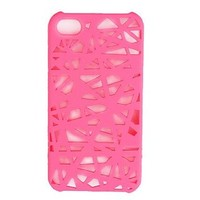 Wohai Gadget Mall - For the iPhone 4 unique mesh protection case (pink)