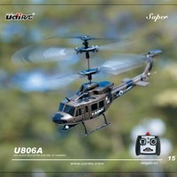 U806 Ultra Stable Mini 3.5 Channel Army Military Huey Indoor RC Helicopter with Built-in Gyro Gyroscope RTF by UDI