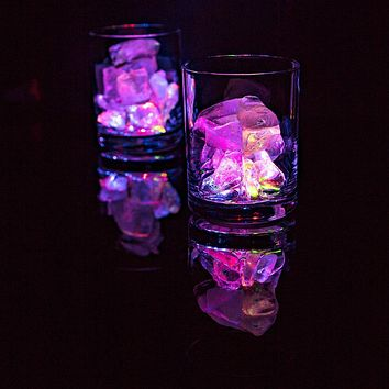 LED Wine Bottle Light Bar Coaster / Sticker Glorifier, Battery Operated (RGB Color-Changing, 6-PACK)