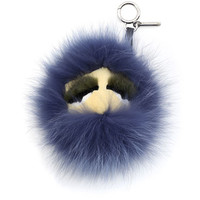 Fendi Monster Key Chain, Black/Purple