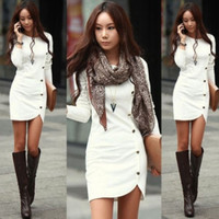 Spring Sexy Women White Bandage Bodycon Long Sleeve Casual Dresses Slim Evening Party Cocktail Mini Dress Skirt = 1956804804