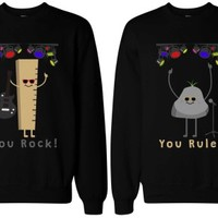 Rock and Rule Funny BFF Sweatshirts - 365 Printing Inc