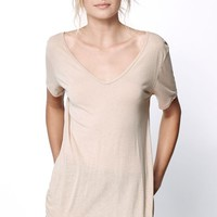 Obey Lou T-Shirt - Womens Tee - Nude - Small