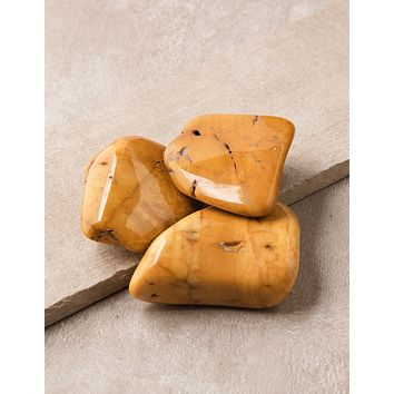 Yellow Jasper Pocket Stones - Set of 3 - As-Is-Clearance