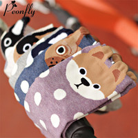 Korea New Pattern Pure Cotton Woman Socks & hosiery women Circle Point Cartoon Socks Three-dimensional Cotton Socks Lovely 3d