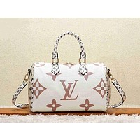 LV Louis vuitton Women Shopping Leather Tote Crossbody Satchel Shoulder Bag-2