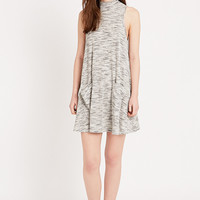 Sparkle & Fade Turtleneck Pocket Swing Dress in Grey - Urban Outfitters
