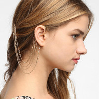 Urban Outfitters - Delicate Rhinestone Hair Comb Cuff Earring