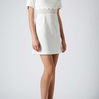 Scallop Insert Shift Dress