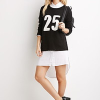 25 Graphic Loose-Knit Sweater