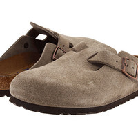Birkenstock Boston Soft Footbed (Unisex) Black Suede - Zappos.com Free Shipping BOTH Ways