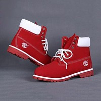 Timberland Women Leather Lace-Up Waterproof Boots Shoes F