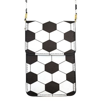MB0062 - SOCCER CELLPHONE CROSSBODY BAG WITH CLEAR WINDOW